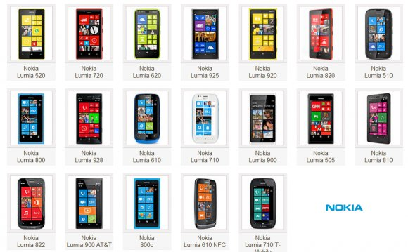 The word nokia lumia