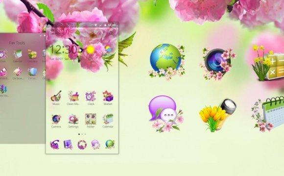 Spring Flowers Theme
