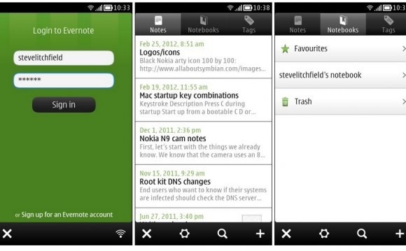 Symbian Apps: NoteKeeper for