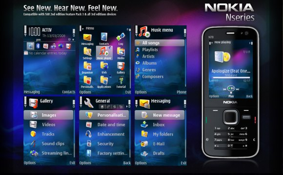 Nokia N series themes